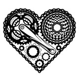 bicycle parts heart