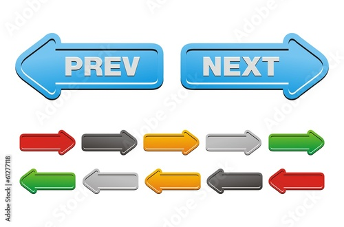 prev and next buttons - arrow buttons