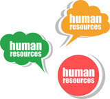 human resources . Set of stickers, labels, tags. infographics