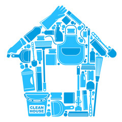 Symbols of a clean house