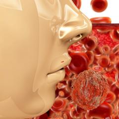 Hiv Virus - 3d Render