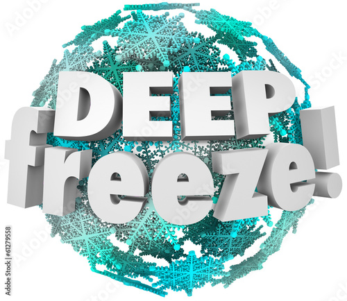 Deep Freeze Winter Weather Blizzard Storm Snowflake Sphere