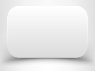 Blank white rectangle with rounded corners