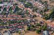 canvas print picture - flood-destroyed town/village