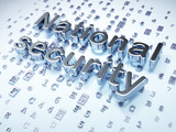 Safety concept: Silver National Security on digital background