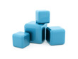 Blue cubes rendered isolated