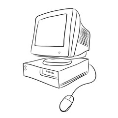 old desktop computer