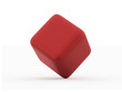 Red cubes rendered isolated