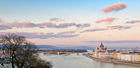 Budapest, panorama on the Danube