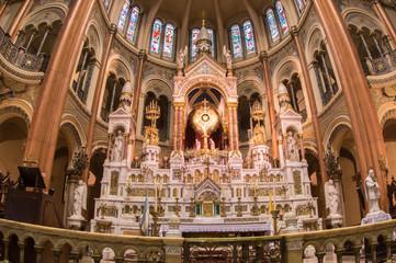 Luxurious shrine inside church