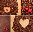 coffee and heart set
