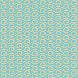 Vintage wave vector seamless pattern (tiling)