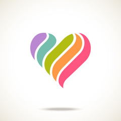 Simple original color heart icon