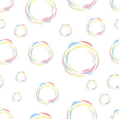seamless pattern of color circles