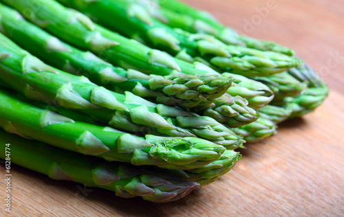 .asparagus on wood