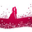 Hochzeitskarte Vektor
