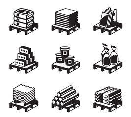 Building and construction materials - vector illustration