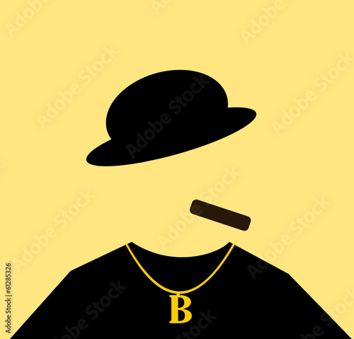 gangster smoking cigar and wearing gold chain