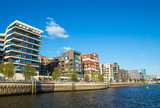 New apartment buildings seen in the Hafencity in Hamburg