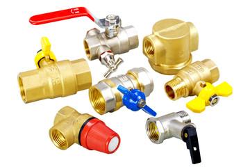 plumbing fixtures, valves, fittings