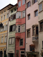 View of buildings in the street, Bolzano