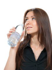 drinking water bottle healthy lifestyle weight loss concept