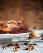 Chocolate Pie Brownie with Walnuts