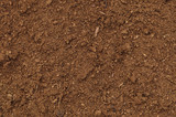 Peat Turf Macro Closeup, large detailed brown organic humus soil