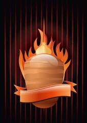 Hintergrund Döner Kebap mit Flammen
