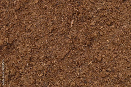 Staande foto Textures Peat Turf Macro Closeup, large detailed brown organic humus soil