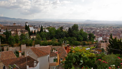 View of the Arab quarter in Granada