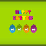 Happy easter cards illustration retro vintage with easter egg  a