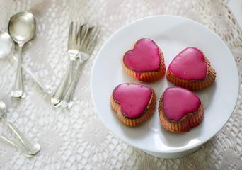 Muffin a cuore per festeggiare San Valentino