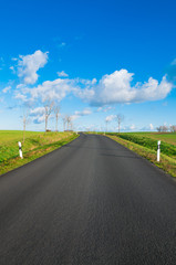 Straße ins Blaue, Route, Reise, Autofahren, Transportwege