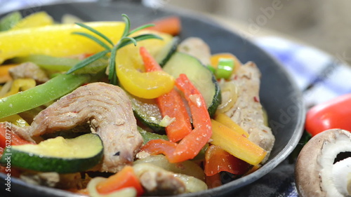 Fried Vegetables with Chicken (loopable)