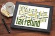 tax refund word cloud