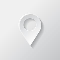 Map pointer icon. Location symbol.