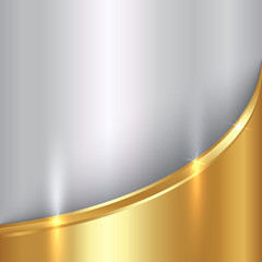 Vector abstract precious metal background with curve
