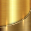 Vector abstract precious metal background with curve - 61289325