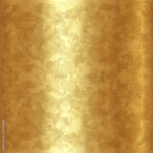 Vector abstract gold metallic background