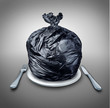 canvas print picture - Food Garbage