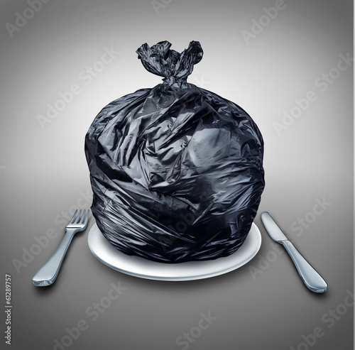 canvas print picture Food Garbage