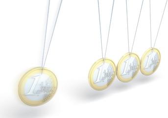 Kinetisches Spielzeug mit Euromünzen
