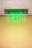 Exit Sign in Building
