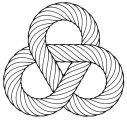 Nodo triagolare in corda