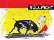 bullfight illustration - 61290738