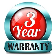three year warranty