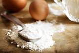 Flour, eggs and milk