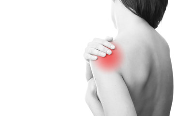 Pain in the women's shoulder
