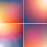 Smooth triangular colorful backgrounds set v